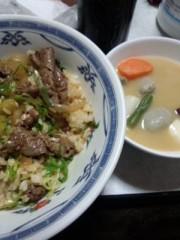 剛 公式ブログ/牛丼と味噌汁 画像1