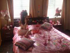 秋山莉奈 公式ブログ/ベッドからおは水着☆彡 画像1