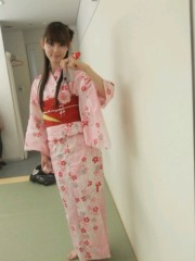 ピンク浴衣の秋山莉奈