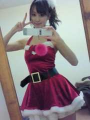 秋山莉奈 公式ブログ/超ミニスカサンタ☆彡 画像1