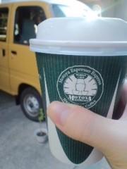 笠松江己子 公式ブログ/移動カフェのコーヒーを買って。 画像1