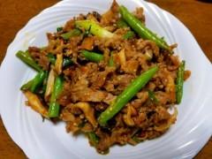 石井智也 公式ブログ/牛肉といんげん 画像1