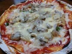 石井智也 公式ブログ/簡単トルティーヤ生地のシーフードピザ 画像2