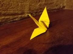 石井智也 公式ブログ/鶴を折る 画像1