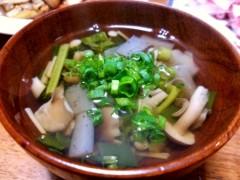 石井智也 公式ブログ/野菜とキノコのスープ 画像2