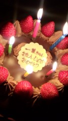 渋沢一葉 公式ブログ/誕生日ケーキ。 画像1