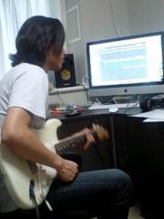 川久保秀一 公式ブログ/ギターダビング 画像1