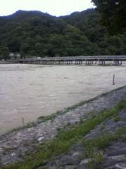 戸田彬弘 公式ブログ/嵐山は濁流 画像1