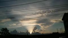 しのへけい子 公式ブログ/神々しい夕焼け 画像1