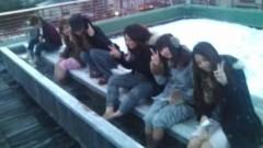後藤有希代 公式ブログ/足湯で雪合戦(笑) 画像1