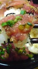 菊池隆志 公式ブログ/『温玉マグロ三色丼♪o(^-^)o 』 画像3
