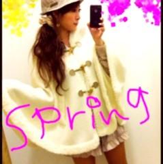 片岡優香 公式ブログ/春ふわもこポンチョ 画像1