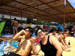 中島和彦(コンパス) 公式ブログ/プールの日焼けをロケで焼けたと嘘をついた夏。 画像1
