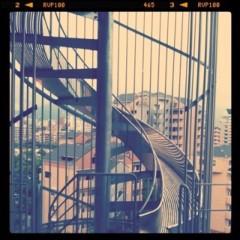 野田萌 プライベート画像 Escape stairway