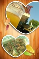 石川美佳 公式ブログ/お祭りで生ビールとたこ焼き食べたよ! 画像1