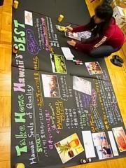 齊藤美絵 公式ブログ/模造紙にHawaiiを☆ 画像1