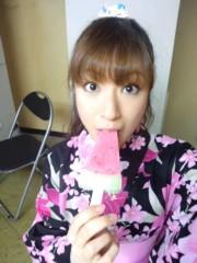武田真由美 公式ブログ/浴衣にアイス 画像1