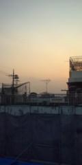 国谷にーち(one nonanol) 公式ブログ/足場からの夕日 画像1