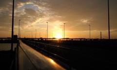 沙人(しゃと) プライベート画像/日常心動風景 小松川橋(京葉道路)からの朝焼け