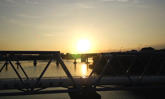 東京の朝焼け2