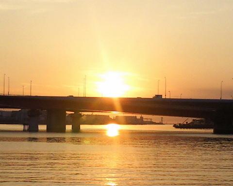 東京の朝焼け3