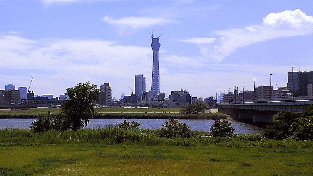 荒川から望む東京スカイツリー