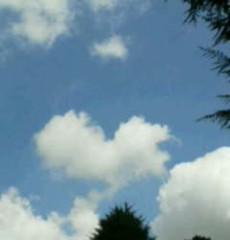 中ゆうこ 公式ブログ/ハート型の雲!! 画像1