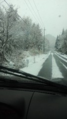 根岸雅英 プライベート画像/11月23〜25日、福島・宮城にて 雪道を会津若松まで移動っ