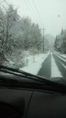 根岸雅英 プライベート画像 雪道を会津若松まで移動っ