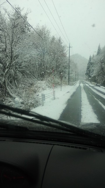 雪道を会津若松まで移動っ