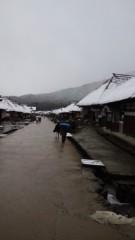 根岸雅英 プライベート画像 大内宿はすっかり雪景色っ
