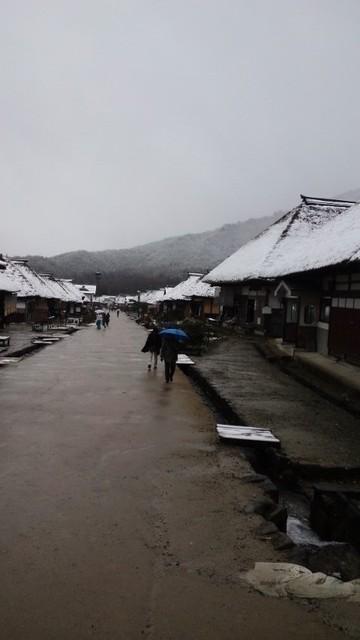 大内宿はすっかり雪景色っ