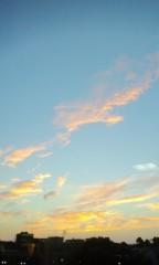 城所葵 公式ブログ/綺麗な夕焼け 画像1