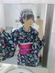 城所葵 公式ブログ/五部・紺浴衣でせくしー 画像2