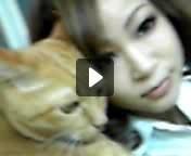 愛猫との共演