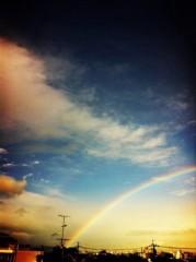 あまね飛鳥/わおん 公式ブログ/今日虹をみたよ! 画像1