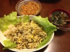 アントニオ小猪木 公式ブログ/レタス高菜チャーハン 画像1