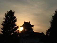 アントニオ小猪木 公式ブログ/夕陽を背に富山城 画像1