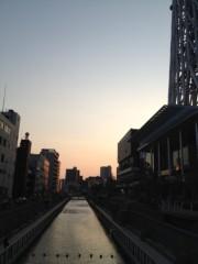 アントニオ小猪木 公式ブログ/下町の夕焼けを流れる川 画像1