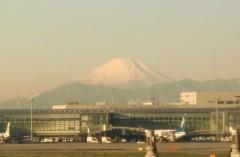 アントニオ小猪木 公式ブログ/羽田から富士山 画像1