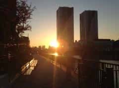 アントニオ小猪木 公式ブログ/黎明橋公園からの夕焼け 画像1