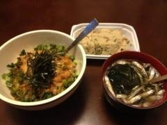 アントニオ小猪木 公式ブログ/納豆丼とおからと味噌汁 画像1