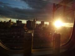 アントニオ小猪木 公式ブログ/新幹線の夕焼け 画像1