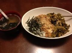 アントニオ小猪木 公式ブログ/納豆高菜海苔三色丼 画像1
