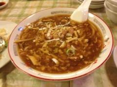 アントニオ小猪木 公式ブログ/打ち上げでの酸辣湯麺 画像1
