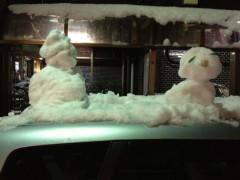 アントニオ小猪木 公式ブログ/車に小さな雪だるま 画像1