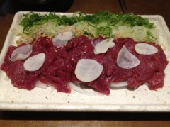 アントニオ小猪木 公式ブログ/馬刺しを食べた 画像1