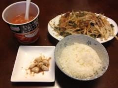 アントニオ小猪木 公式ブログ/にんにく七味野菜炒め 画像1