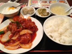 アントニオ小猪木 公式ブログ/酢豚の定食 画像1