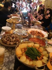 アントニオ小猪木 公式ブログ/仲本工事さんらと韓国料理 画像1